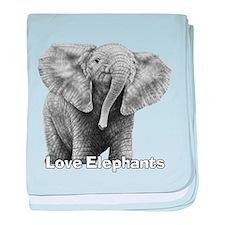 Love Elephants! baby blanket