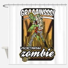 Vegetarian Zombie Shower Curtain