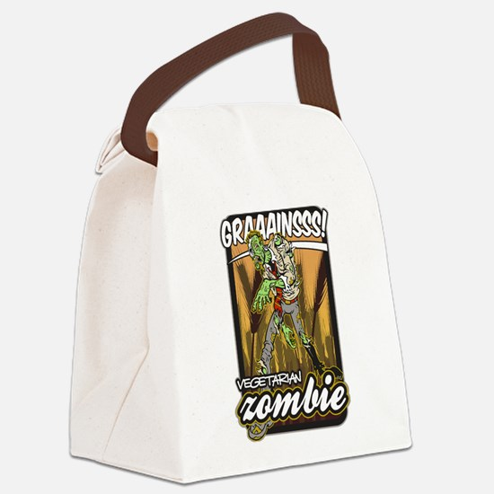 Vegetarian Zombie Canvas Lunch Bag