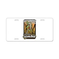 Vegetarian Zombie Aluminum License Plate