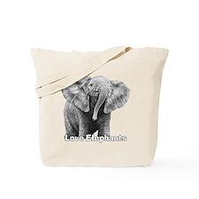 Love Elephants! Tote Bag