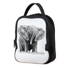 Love Elephants! Neoprene Lunch Bag