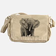 Love Elephants! Messenger Bag