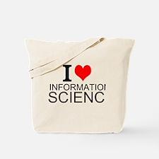 I Love Information Science Tote Bag
