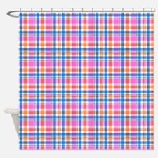 Pink Plaid Shower Curtains Pink Plaid Fabric Shower Curtain Liner