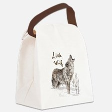 Funny Wolf Canvas Lunch Bag