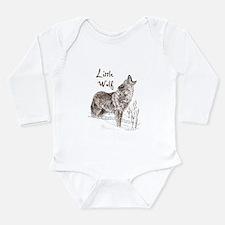 Cute Wolf Long Sleeve Infant Bodysuit