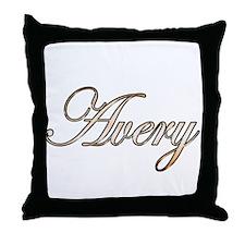 Gold Avery Throw Pillow