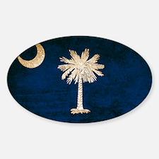 Vintage Flag of South Carolina Sticker (Oval)