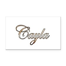 Gold Cayla Rectangle Car Magnet