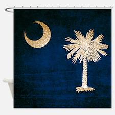 Vintage Flag of South Carolina Shower Curtain