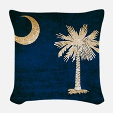 Vintage Flag of South Carolina Woven Throw Pillow