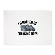 I'd Rather Be Changing Tires 5'x7'Area Rug