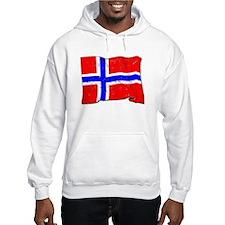 Norway Flag (Distressed) Hoodie
