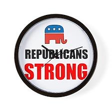 Republicans Strong Wall Clock