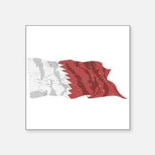 Qatar Flag (Distressed) Sticker