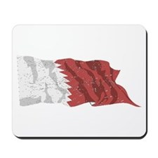 Qatar Flag (Distressed) Mousepad