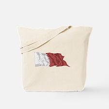 Qatar Flag (Distressed) Tote Bag
