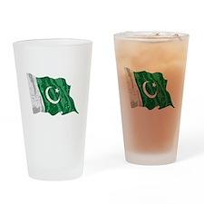 Pakistan Flag (Distressed) Drinking Glass