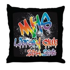 MHS Library Club 2014-2015 Throw Pillow