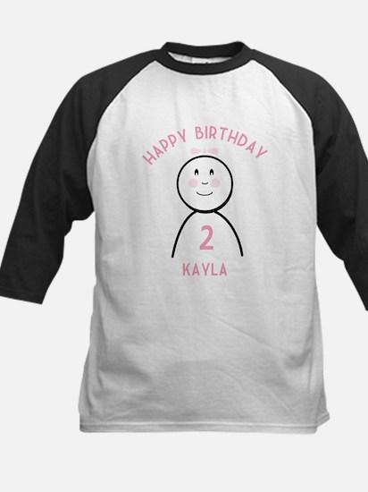 Happy B-day Kayla (2nd) Kids Baseball Jersey