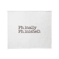 PhD Doctoral Graduate Throw Blanket
