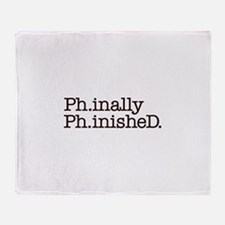 PhD Doctoral Graduate Throw Blanket