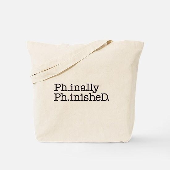 PhD Doctoral Graduate Tote Bag