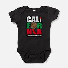 California Bear Republic Black Baby Bodysuit