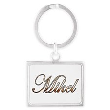 Gold Mikel Keychains
