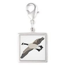 Canada goose-No Text Silver Square Charm