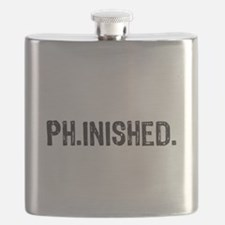 PhD finished, doctoral funny gift Flask