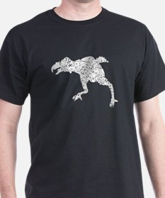 Distressed Phororhacos Silhouette T-Shirt