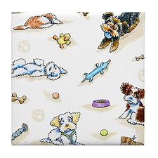 Poodle Mix-ing It Up Tile Coaster