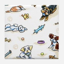 Poodle Mix-ing It Up Tile Coaster