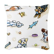 Poodle Mix-ing It Up Woven Throw Pillow