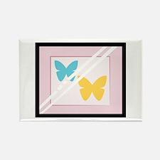 Framed Butterflies Magnets