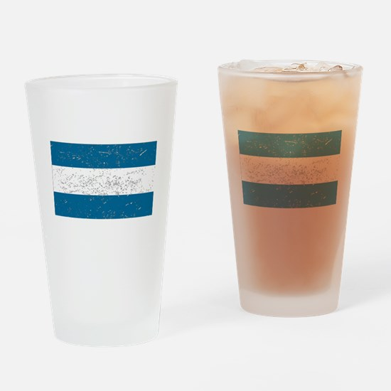 Nicaragua Flag (Distressed) Drinking Glass