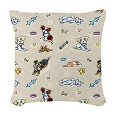 Poodle Mix n It Up Oat Woven Throw Pillow