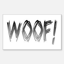 WOOF! Rectangle Decal