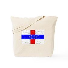 Old Netherlands Antilles Flag (Distressed) Tote Ba