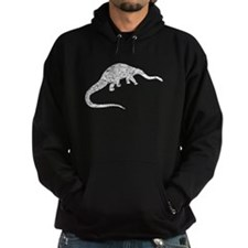 Distressed Diplodocus Silhouette Hoodie