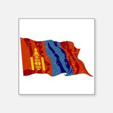 Mongolia Flag (Distressed) Sticker