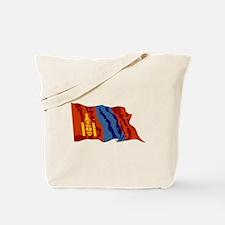 Mongolia Flag (Distressed) Tote Bag