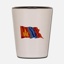 Mongolia Flag (Distressed) Shot Glass