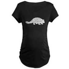 Distressed Ankylosaurus Silhouette Maternity T-Shi