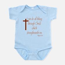Philippians 4 13 Brown Cross Body Suit