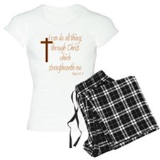 Philippians 4 13 Brown Cros Pajamas