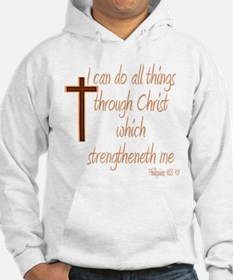 Philippians 4 13 Brown Cross Jumper Hoody