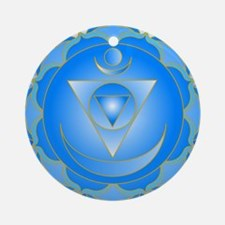 Mandala for Thraot and Brow Chakra Ornament (Round
